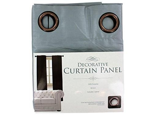 Regalo Perfecto Collection Decorative Faux Silk Curtain Panel