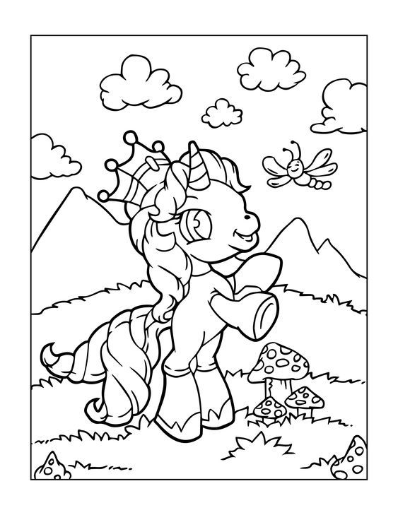 beautiful unicorn coloring page in 2020   malvorlagen