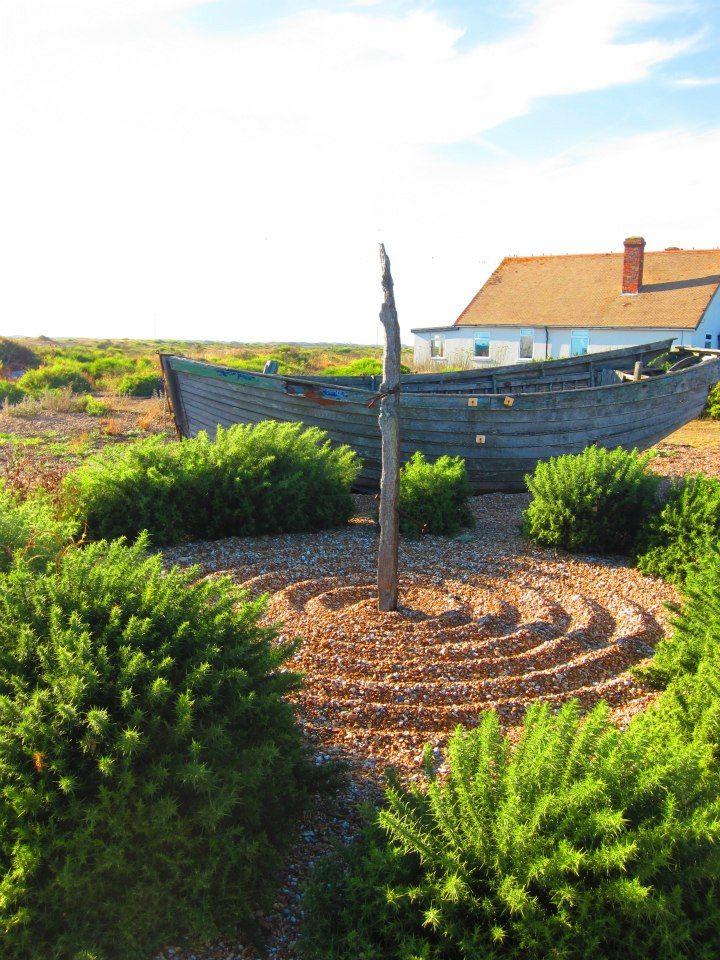 Stone ripples in Derek Jarman's garden. I love this place.
