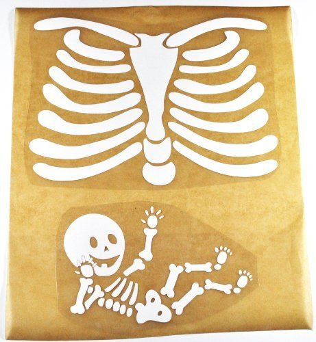 Design Copyrighted by Candyland Studio US Copyright Registration #VA0001989910 Please do not copy. Pregnant Skeleton Iron-on Decal for Halloween or Pregnancy Announcement Maternity Shirt.