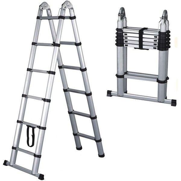escalera telescópica aluminio 3.8 mts - doble acceso fácil de transportar y almacenar. #escalera #aluminio http://godirectaccess.es/escaleras/escalera-telescopica-3-8metros-doble-acceso.html