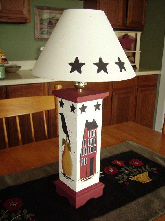 Primitive Country Table Lamp Primitive