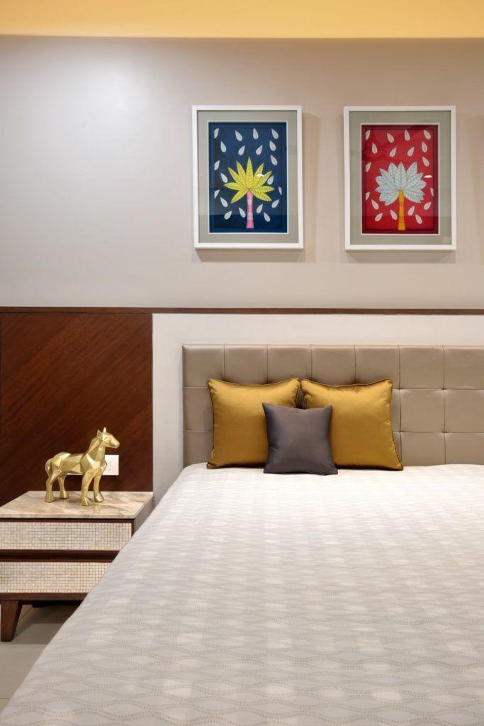 3 Bhk Flat Interiors The Oak Woods Bedroom Bed Design Flat Interior Beautiful Bedroom Designs