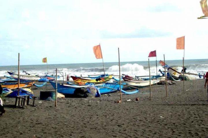 sailor boats at depok beach yogyakarta indonesia