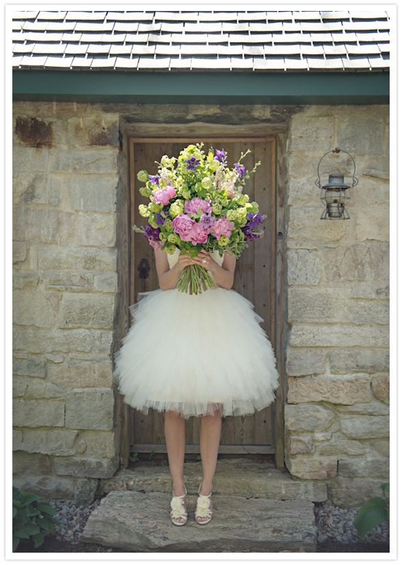 ballerina style wedding dress and Badgley Mischka shoes