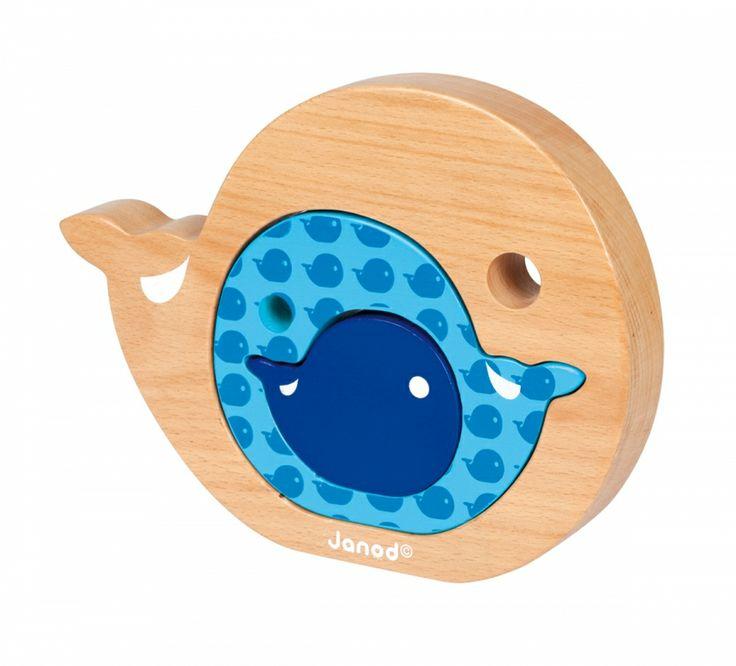 Ξύλινη Φάλαινα — Janod — Babyglitter