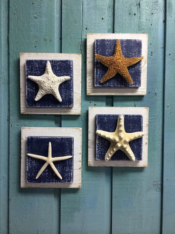 Starfish Plaque Sign Wall Art Beach House Decor di CastawaysHall