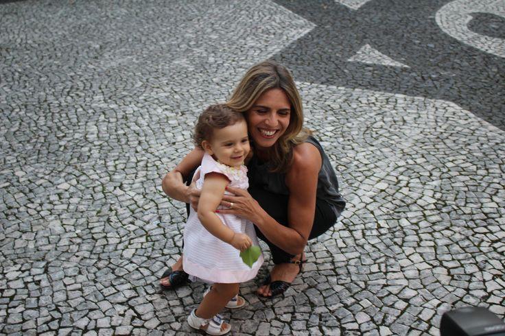 Sandra Felgueiras e a filhota