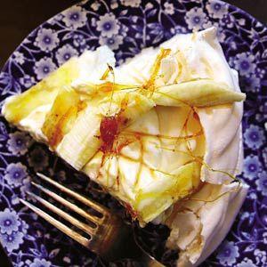 Recept - Pavlova met banaan en karamel - Allerhande