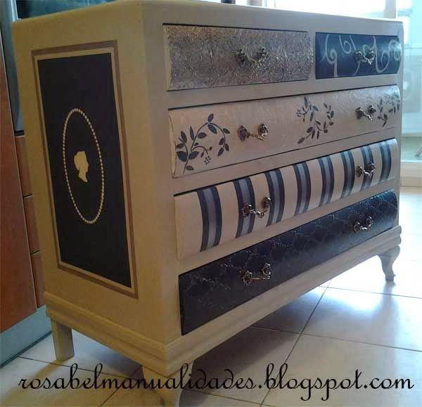 Rosabel manualidades: Muebles decorados                              …