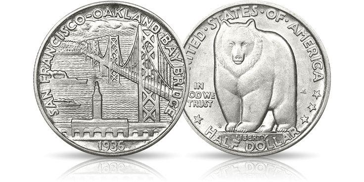 Słynny most nad zatoką San Francisco i symbol Kalifornii na dolarze z 1936 roku