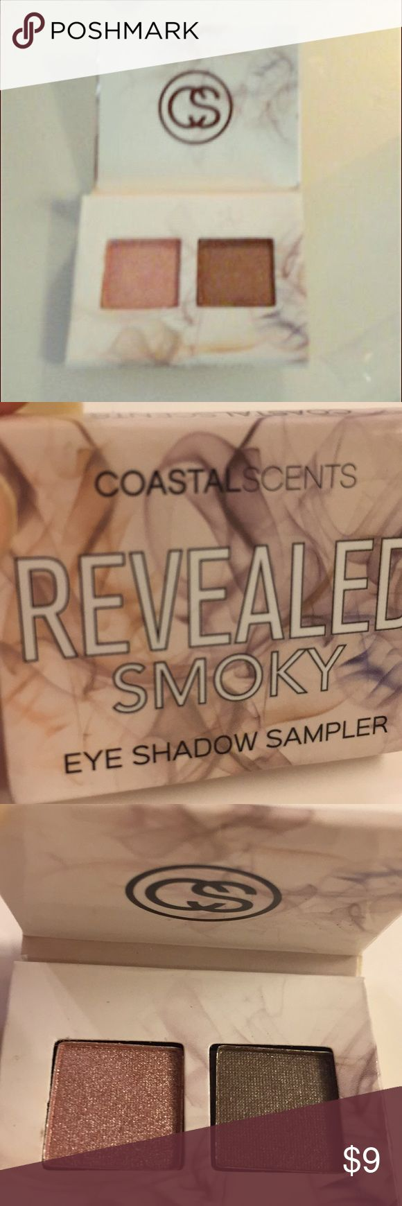 Coastal Scents Revealed Smoky ShadowSample Size Coastal Scents Revealed Smoky Eye Shadow in Sample Size. Coastal scents, Colors are Smoky eye and Holy grail. Looks great on. Make an offer or Bundle discount Coastal Scents Makeup Eyeshadow