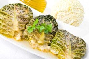 Kalua Pork Stuffed Cabbage Rolls with a teriyaki-butter-garlic sauce
