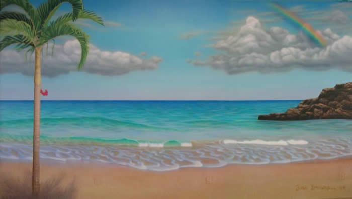 Best 25 beach mural ideas on pinterest painted wall for Beach scene mural wallpaper