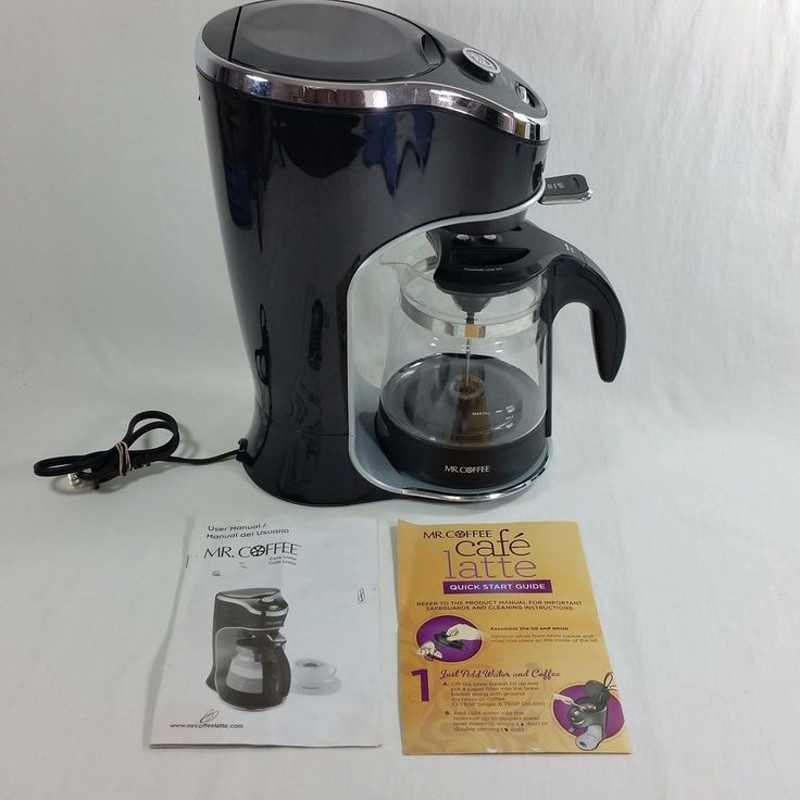 Mr. Coffee Cafe Latte BVMC-EL1 2-Cup Coffee MakerGently used latte & frother with 2-cup capacity. | eBay!