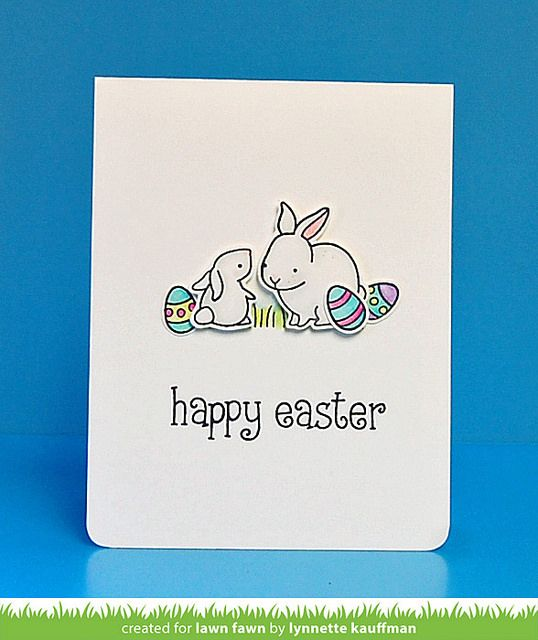 Lawn Fawn - Hello Baby + coordinating dies, Happy Easter _ card by Lynnette for Lawn Fawn Design Team