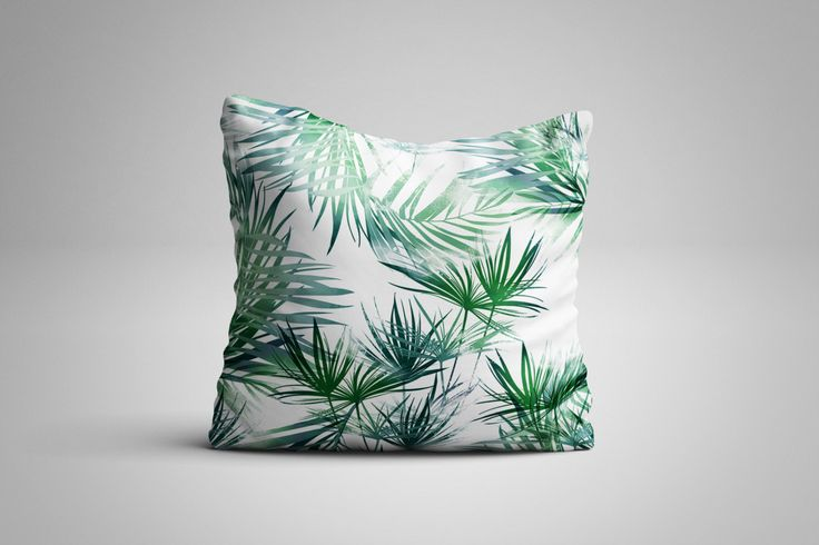 Tropical Leaves Cushion. 12 x 12 inch Cushion by NJsBoutiqueCo on Etsy
