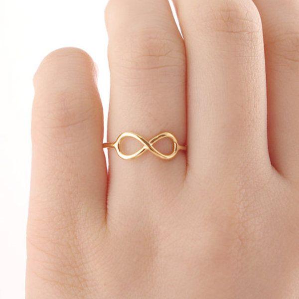 infinity ring, gold ring, Unendlichkeit Ring von Modeschmuck auf DaWanda.com