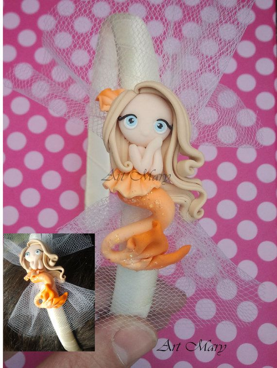 ADORABLE;;; Headband mermaid fimo polymer clay by Artmary2 on Etsy, €10.00
