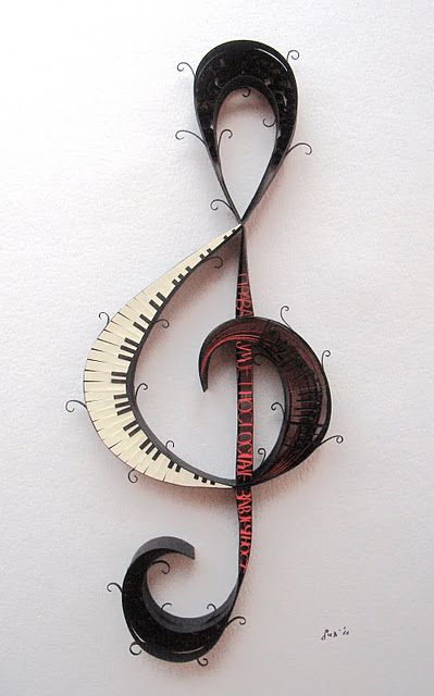 Musical note - decoration for the music room in honor of my aunty who loved everything with a music note. Ayesha Muhammad Hussein AllahArHama