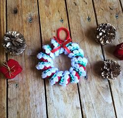 Couronne de Noël tutoriel crochet facile