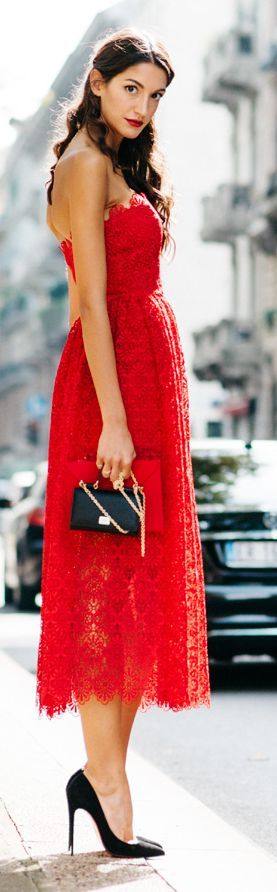 Red Lace Off Shoulder Maxi Dress