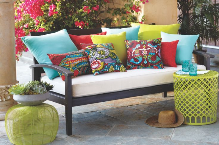 Laguna Occasional Bench (Outdoor Furniture or Patio Furniture) at Cost Plus World Market >> #WorldMarket Outdoor Entertaining & Decor