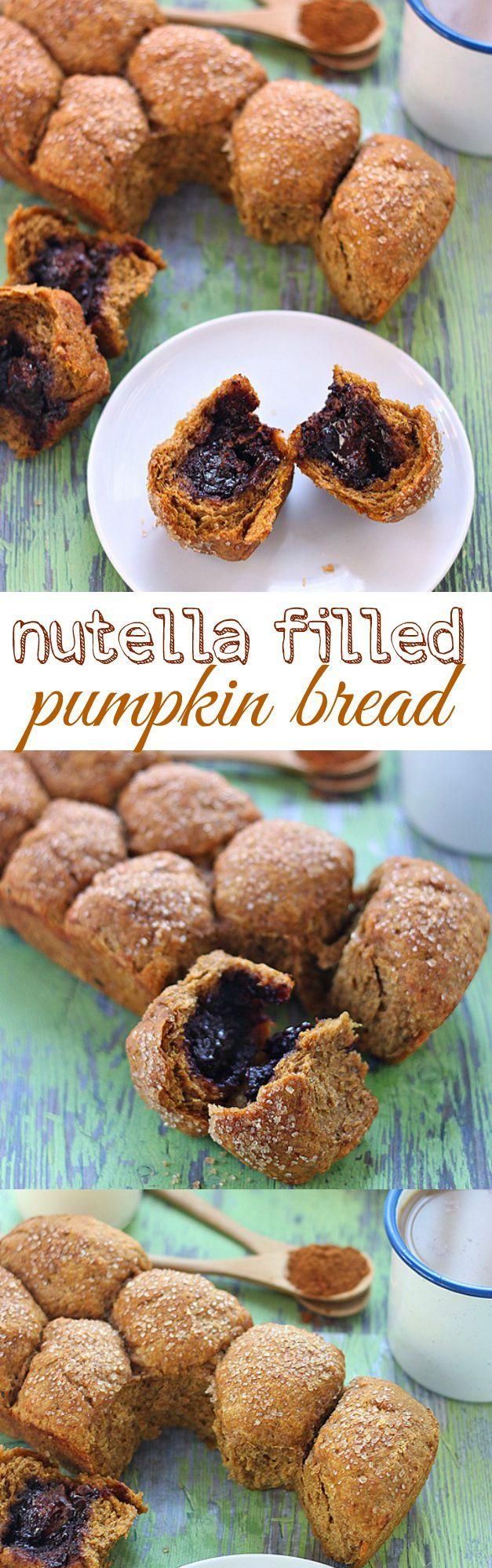 Pull apart nutella filled pumpkin bread | Recipe | Nutella ...
