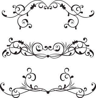 scroll border tattoos. Black Bedroom Furniture Sets. Home Design Ideas