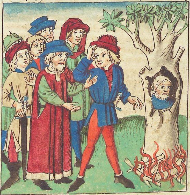 Antonius <von Pforr> Buch der Beispiele — Schwaben, um 1480/1490 Cod. Pal. germ. 85 Folio 61v