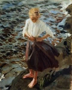 Windswept Girl Akseli Gallen-Kallela - 1893