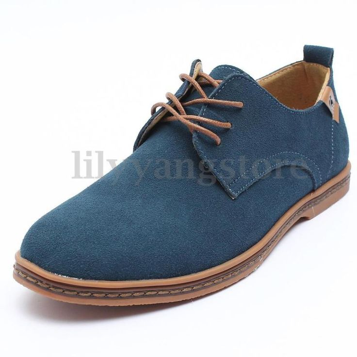 New European Style Men's Leather Shoes Oxfords Casual Suede Formal Dress Shoes