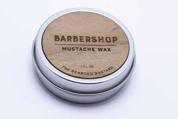 THE BEARDED BASTARD  The Bearded Bastard Barbershop Mustache Wax $ 16