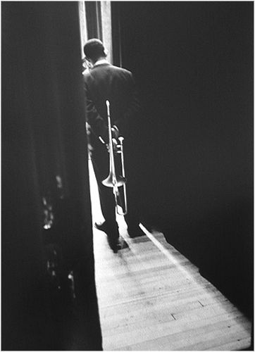 by Dennis Stock, Waiting Trumpeter, 1958