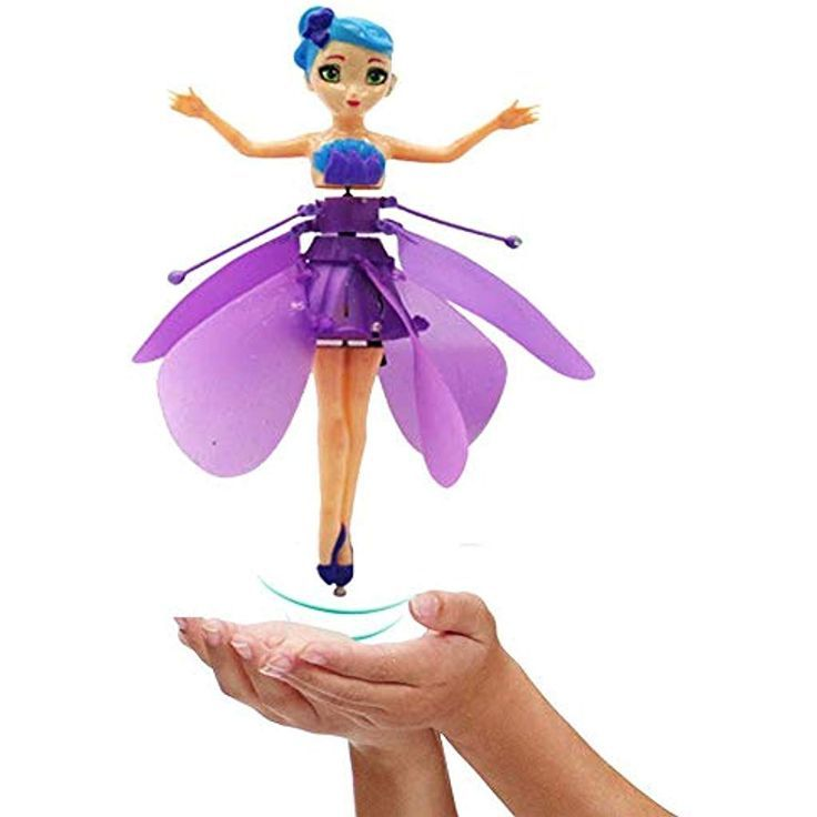 A Good Gift for The Kids Daxoon Flying Toy Fairy Princess Infrared Sensor Airplane Without Remote Control