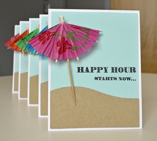 Seems like a good excuse to go out for cocktails...to collect the umbrellas for cards...LOL. Happy Hour Starts Now by *suzanne* - Cards and Paper Crafts at Splitcoaststampers