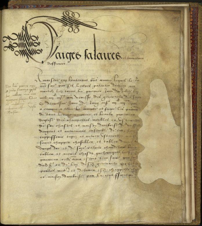 Registre des comptes de l'ameublement du château d'Aboise. Archives nationales, KK 332 © Archives nationales, France