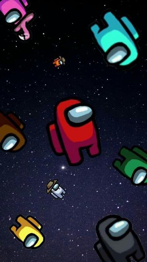 Wallpaper Among Us Space Image