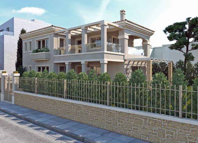 lkmk architects | Gerakas Neoclassical residence