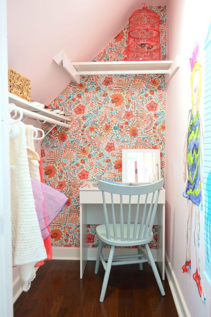 The 25 best little girl vanity ideas on pinterest little girls cute girls closet with a small vanity turned writing desk geotapseo Images