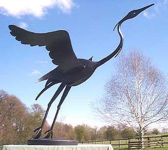 Sculpture Of Flying Heron