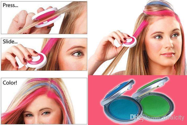 Online Cheap New Temporary Hair Chalk Tiza Del Pelo Hot Pink Blue Fuchsia Neon Green No Retail Box Beauty Hair Hair Styling By Dealcity | Dhgate.Com