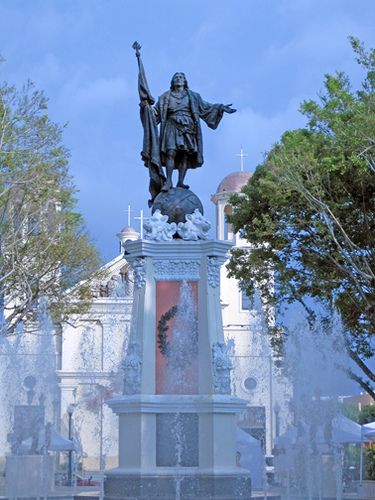 ☀Puerto Rico☀Plaza de Colon in Mayaguez, PR