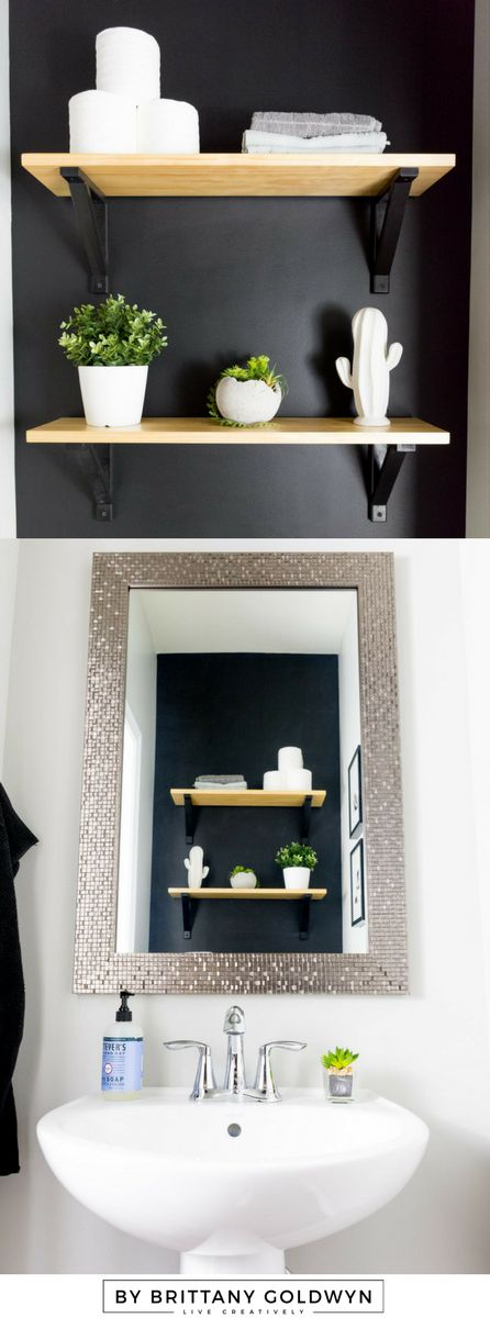 Best 25 Black Powder Room Ideas On Pinterest  Pvc Bathroom Wall Amazing Small Black Bathrooms Design Ideas
