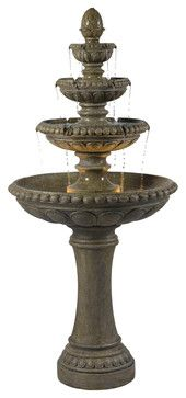 Kenroy 50231TE Rialto Outdoor Floor Fountain - transitional - Outdoor Fountains And Ponds - Lighting Front