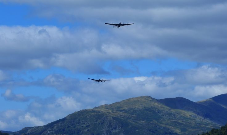 These Boots....: Historic Lancaster Bomber flypast at Brockhole, Windermere http://thesebootsrmade4walkin.blogspot.co.uk/2014/09/historic-lancaster-bomber-flypast-at.html