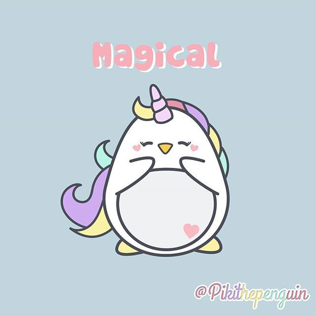 Piki is magical!!  #Piki #pikithepenguin #penguins #penguinslover #cute #kawai #kawaii #unicorn #unicornio #cuddly #pink #loveunicorns #unicornlove #unicornlover #pusheen #gudetama #unicorns