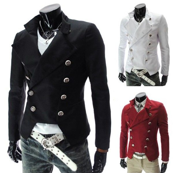 Men's British Style Casual Slim Double-breasted Coat Suit via martEnvy. Click on the image to see more!