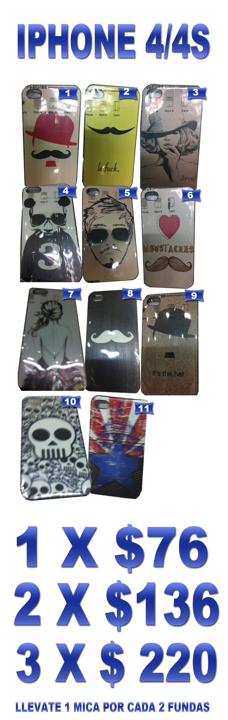 $76 Funda iPhone 4/4S Bigote, Mostacho, Vintaje, Hipster