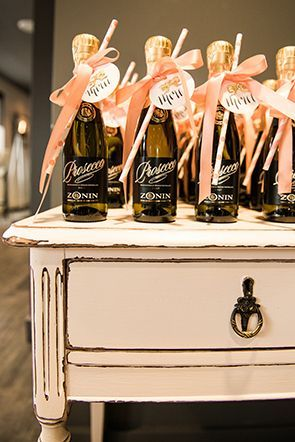 Prosecco favors | Photo by Injoy Imagery | Styling by Laura Olsen Events